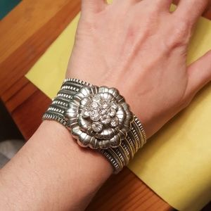 Gorgeous Studded Flower Bracelet